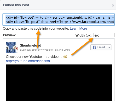 Image result for embed facebook video to blog