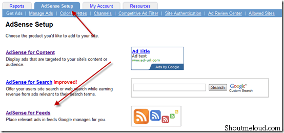 How to Configure Adsense For feeds?