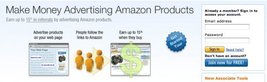 amazon affiliate 550x169 How to Make Money with Amazon Affiliate Program?