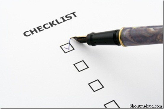 checklist thumb 8 Things to Work Upon before Starting Online Business Blog