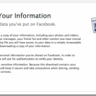 Facebook Download Information Feature Launched