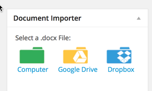 import Microsoft file to WordPress