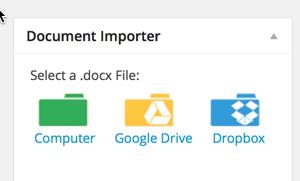 import Microsoft file to WordPress