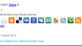 Social Bookmarking & Sharing Icons: How Much Is enough?
