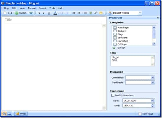 BlogJet 5 User friendly Windows Live Writer Alternative