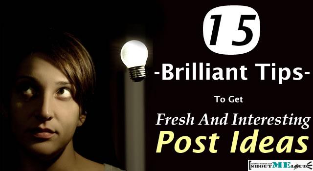 Get New Post Ideas