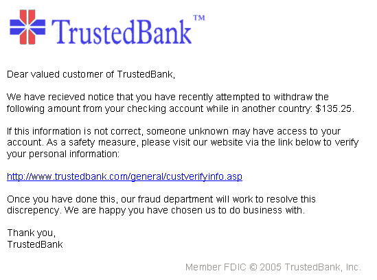 PhishingTrustedBank What is Phishing and Phishing SafeGuard Methods