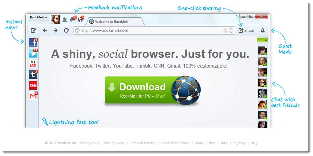 Social Web Browser RockMelt Review: A Social Web Browser