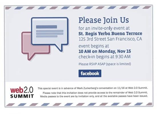 facebookevent thumb Facebook Launching Email service? @fb.com