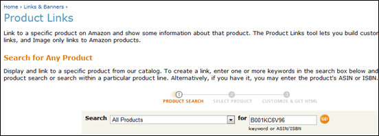 productsearch thumb How to Create Amazon Affiliate Link [Tutorial]