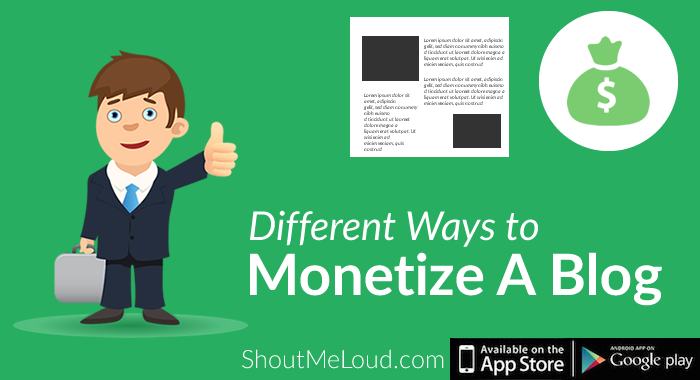 5 Different Ways to Monetize A Blog