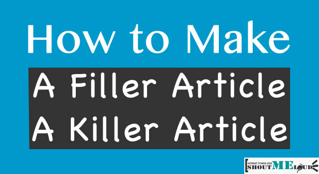 Write Killer Article