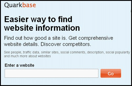 quarkbase 5 Free and Useful Online SEO tools