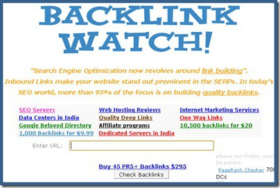 Backlinkwatch 5 Best Free Online Backlink Checker Tools