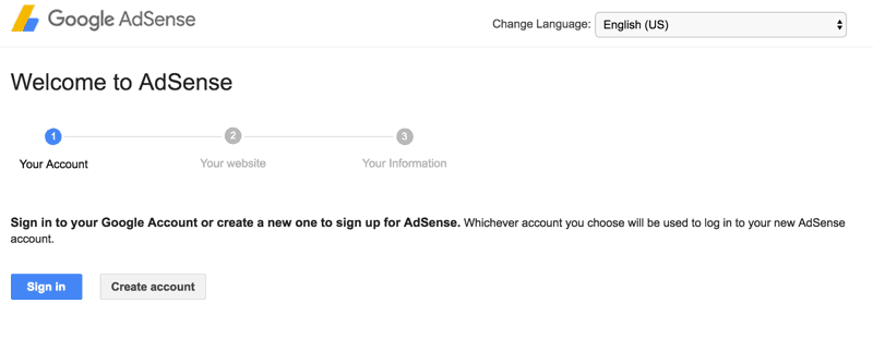 Create AdSense Gmail account