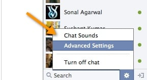 Facebook Chat Advanced settings