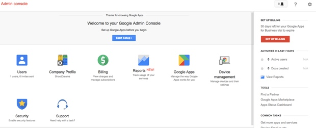 Google Apps admin console How to Set up Google Apps Standard on Bluehost cPanel