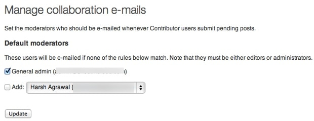 Peters collaboration Email plugin