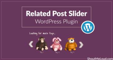 Related Post Slider WordPress Plugin