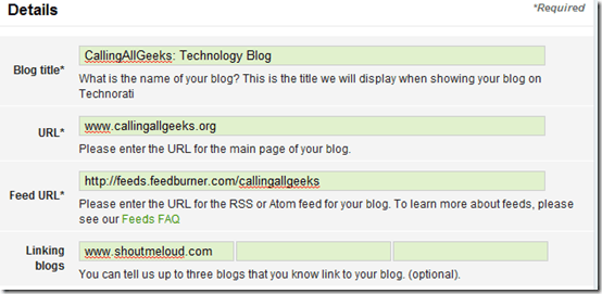 blogdetailstechnorati thumb How to Submit Blog to Technorati?