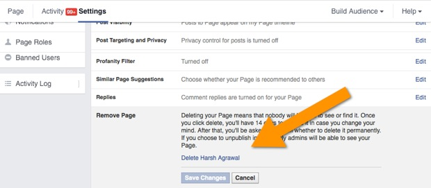 delete Facebook page How to Delete Facebook Fan Page In Quick Steps (With Pictures)