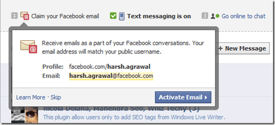 facebookemaling thumb Facebook New Email Messaging System: First look