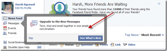 newfacebookemail thumb Facebook New Email Messaging System: First look