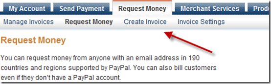 paypalcreateinvoice thumb How to Request money and Send Invoice Using PayPal