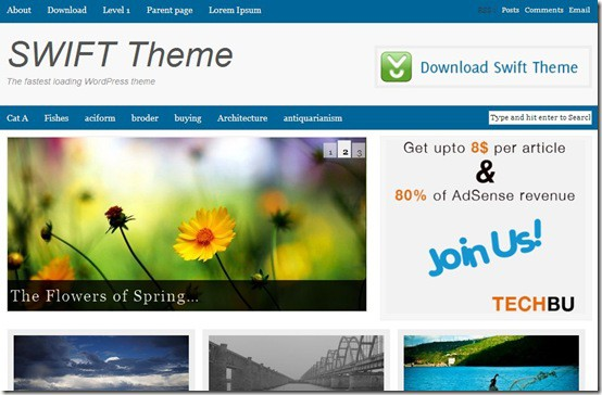 swift thumb 5 Best Premium Like Free Magazine Style WordPress Themes