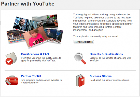 youtube partnership 550x380 How To Get A Youtube Partnership?