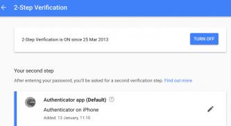Google Enhanced Security with 2 Step Verification