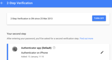 Google Enhanced Security with 2 Step Verification