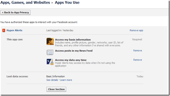 Facebook-app-security