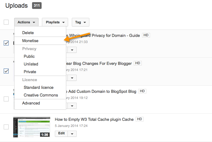 How to Enable Adsense Ads on Uploaded YouTube Videos