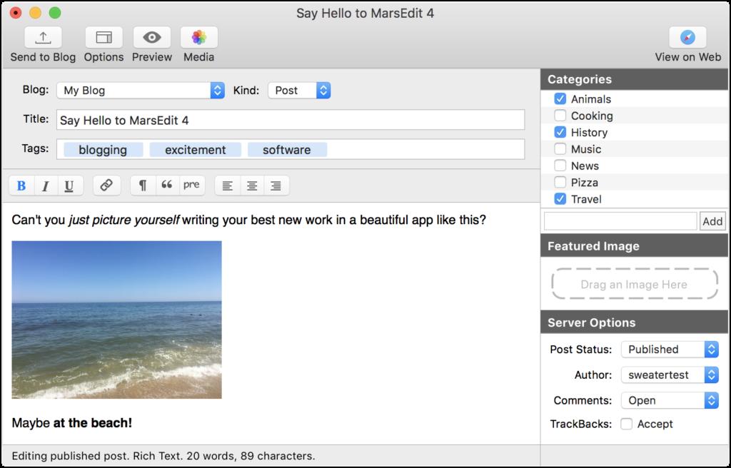 Blogo Vs  Mars Edit Vs  Ecto: Desktop Blog Editors for Mac