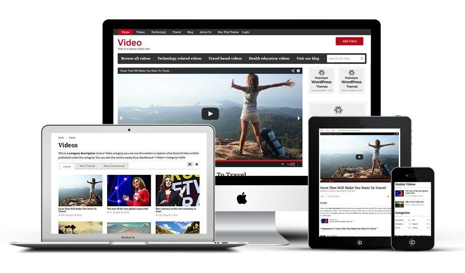 Templatic Video WordPress Theme