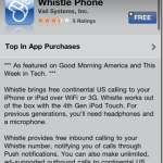 Whistle Phone: Unlimited Free Calls to U.S.A from iPhone & Mac
