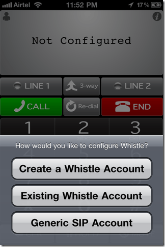 WhistleiPhoneinstall thumb Whistle Phone: Unlimited Free Calls to U.S.A from iPhone & Mac