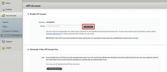 apikey 550x239 How To Boost Your Wordpress Blog With Rackspace Cloud Files!
