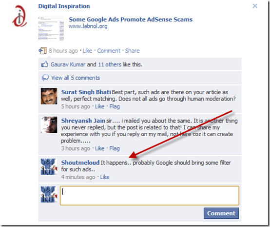 commenting thumb Complete Overview of New Features on Updated Facebook Fan Page