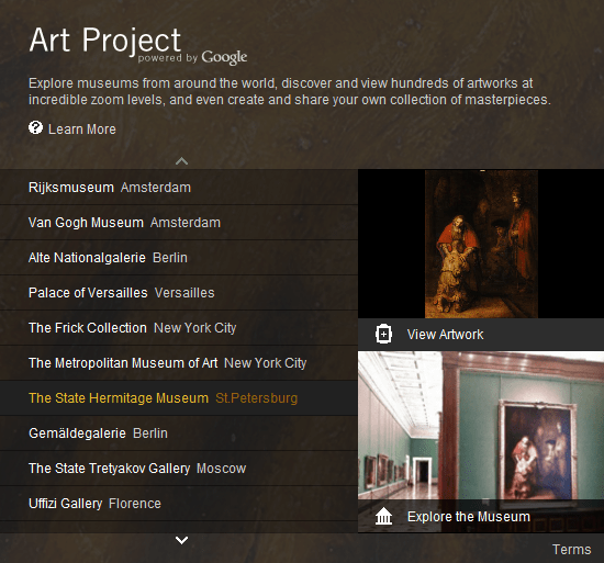 google art project preview What is Google Art Project