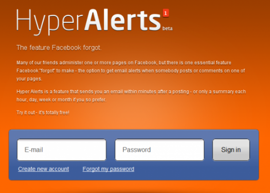 hyper alerts facebook 550x393 How to Get Facebook Page Notification Via Emails