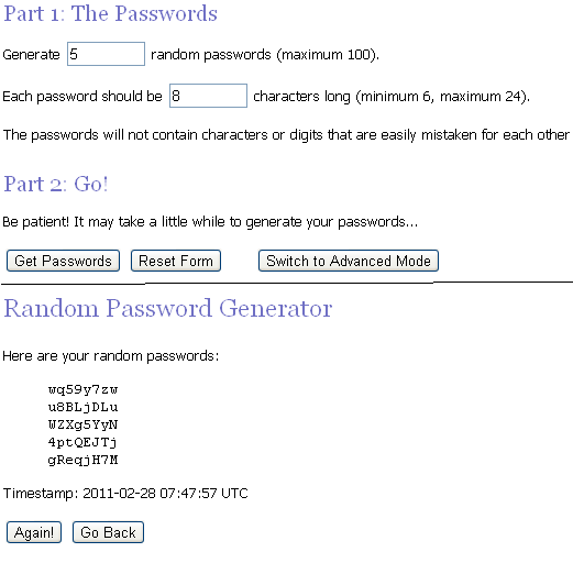 passwordgenerator 5 Features of Random.org That You Should Use