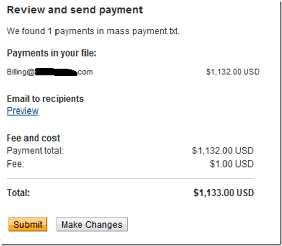 reviewmasspayment thumb How to Send Money using PayPal Mass Payment