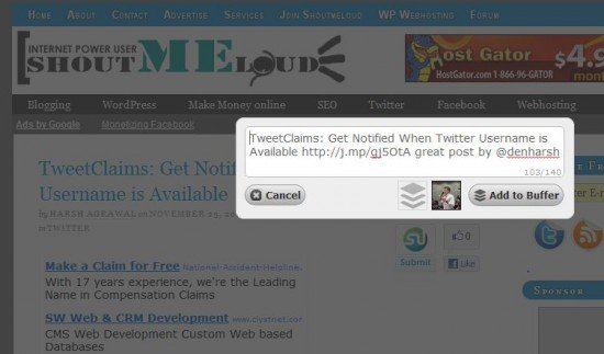 shoutmeloud 550x323 How to: Be efficient and genuine on Twitter in 3 steps