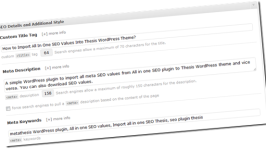 How Thesis WordPress Theme Helps you to Lower Down Plugins