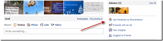 usefacebookpageasprofile thumb Complete Overview of New Features on Updated Facebook Fan Page