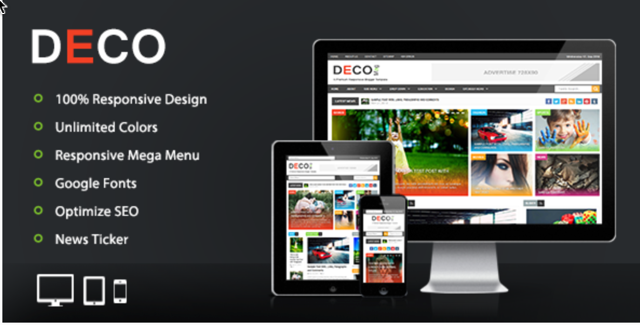 Deco Responsive Blogger Template