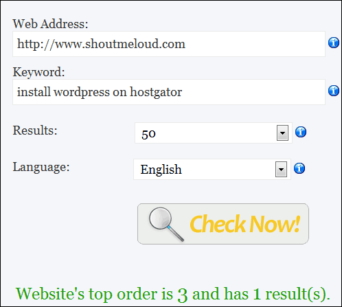 GooglePosition1 5 Excellent Websites to Check Google Keyword Ranking