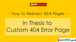 How to Redirect 404 Pages in Thesis to Custom 404 Error Page